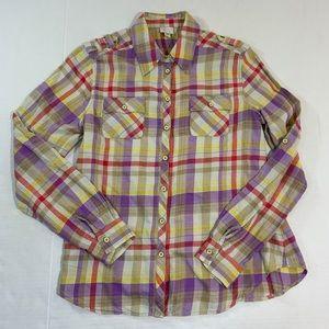 Anthropologie Tops - Anthropologie Postmark Plaid Fall Button Shirt 8